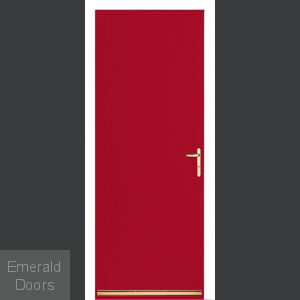 Red Tongue and Groove External Fire Door Set