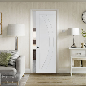 Salerno White Fire Rated Pocket Door System