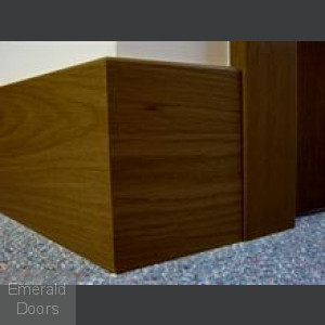Clearance Walnut Skirting Modern Profile Fully Finished