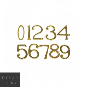 Numerals Polished Brass