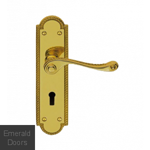 Georgian Suite Shaped Plate Lever