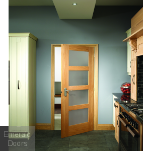 Shaker with Obscure Glass Fire Door In Situ