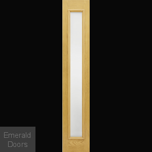 GRP Oak Composite Sidelight with Frosted Glass