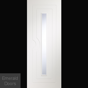 Potenza White Door with Clear Glass