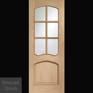 Riviera Pre-Finished Oak Door with Clear Glass