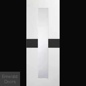 Asti White Grey with Clear Glass Internal Door