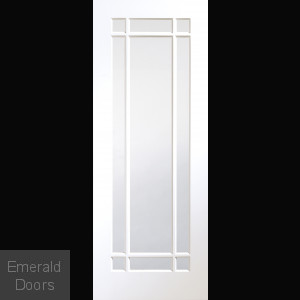 CUSTOM MADE WHITE CHESHIRE OBSCURE GLAZED DOOR