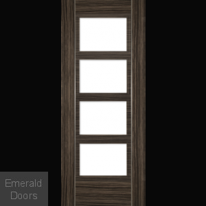 Calgary Abachi Door With Clear Glass