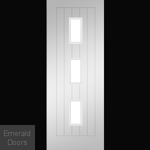 Ely White Clear Glazed Door