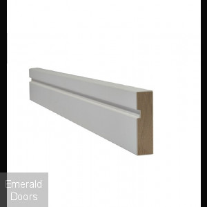 White Grooved Contemporary Architrave