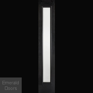 GRP Frosted Glazed Black and White Composite Sidelight