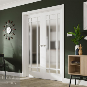 Custom Made Cheshire 9 Light French Doors with Clear Glass