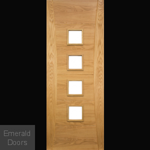 Pamplona Internal Door With Clear Glass