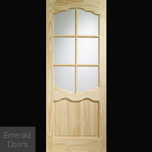 Riviera Internal Clear Pine Door with Clear Glass