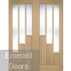Oak Coventry French Doors With Clear Glass