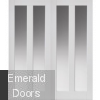 Barbados White Clear Glazed Door Pair