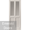 External Colonial 4 Panel Glazed White Fully Finished Extreme Door