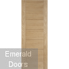 Hampshire Oak Fire Door Fully Finished