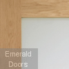Oak Pattern 10 Sliding Door System with Fixed Panels (obscure glass)