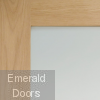 Sliding French Doors with Shaker Clear Glazed Doors