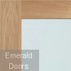 Shaker with Clear Glass Unfinished Oak Fire Door Small Image