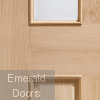 Malton With Raised Mouldings Internal Oak Door with Clear Bevelled Glass Profile Image