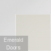Pattern 10 with Obscure Glass Corner Door Profile White Primed