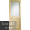 2XG External Clear Pine Door (Dowelled) with Flemish Glass