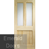 Malton External Clear Pine Door (Dowelled) with Flemish Glass