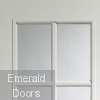 Portobello Pair Internal Pre-Finished White Moulded with Clear Glass Corner Profile