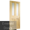 Edwardian Pine Vertical Grain with Clear Bevelled Glass Skewed Image