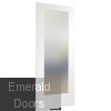 Pattern 10 Door with Obscure Glass Skewed Image White Primed