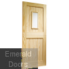 Stable 1 Light External Clear Pine Door (Dowelled) with Clear Glass Skewed Image