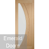 Salerno Unfinished Oak with Clear Glass