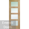 Shaker with Clear Glass Unfinished Oak Fire Door