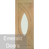 Treviso Unfinished Oak with Clear Glass