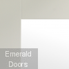 White Pattern 10 Clear Glazed French Doors with Demi Panels