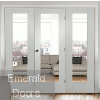 White Pattern 10 Clear Glazed Room Divider with Side Panels