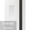 Praiano White Grey Internal Door with Clear Glass