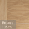 Portici Pre-Finished Oak Fire Door Small Image