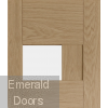 Perugia Oak Internal Door with Clear Glass Small