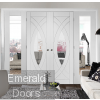 White Treviso Double Door Room Divider with Side Panels