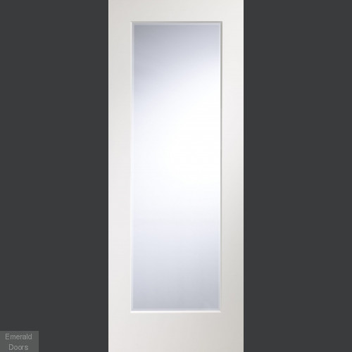 Cesena White Door with Clear Bevelled Glass
