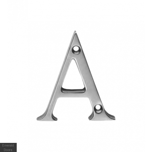 Victorian Letters Polished Chrome