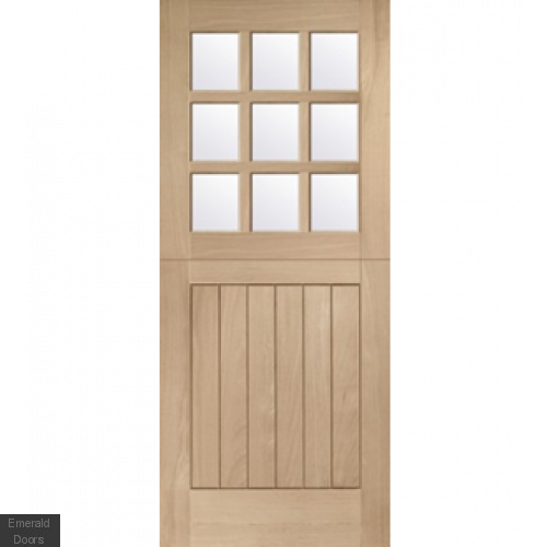 Oak Stable 9 Light with Clear Glass