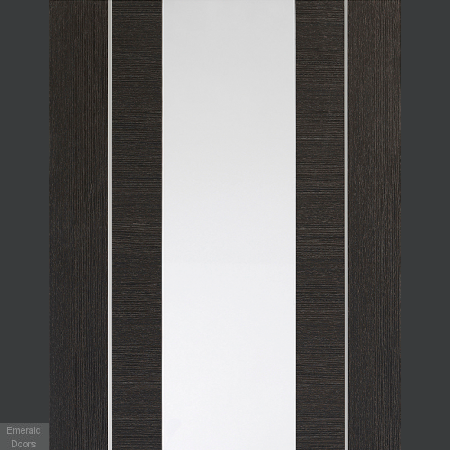 Forli Dark Grey with Clear Glass In Roomset