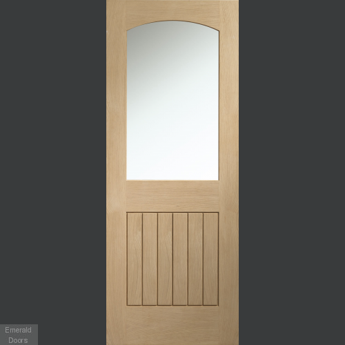 Sussex Oak Cottage Door with Clear Glass