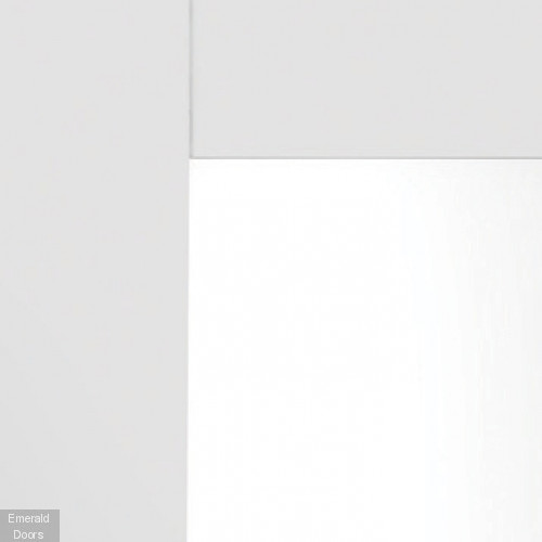 White Shaker 4 Light Custom Made French Doors with Clear Glass