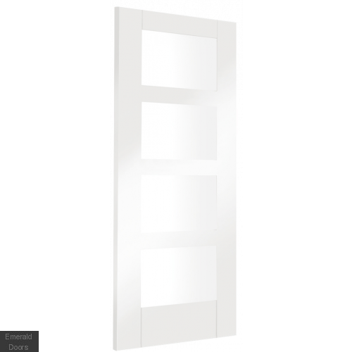 White Shaker 4 Light Room Divider with Matching Demi Panels