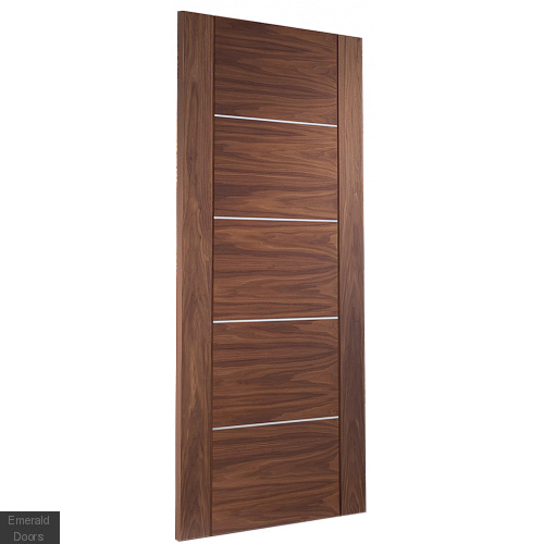 Portici Pre-Finished Walnut Fire Door Small Image